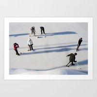 Curling Art Print