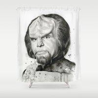 Star Trek: Worf  Shower Curtain