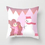 Fantasy Ice Cream Throw Pillow