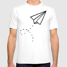 Paper Plane SMALL Mens Fitted Tee White