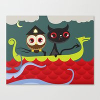 The Aleister & the Pussycat Canvas Print
