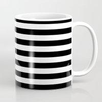 Black and White L Stripes // www.pencilmeinstationery.com Mug