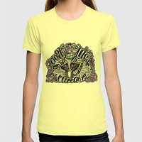 Good Luck 2 Womens Fitted Tee Lemon SMALL