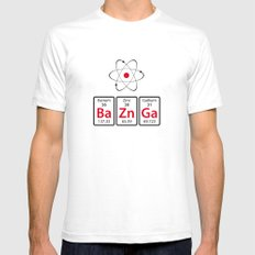 BaZnGa! Mens Fitted Tee SMALL White