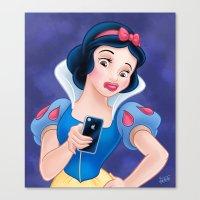 Snow White Duck Face Canvas Print