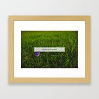 Avoiding tall grass Framed Art Print