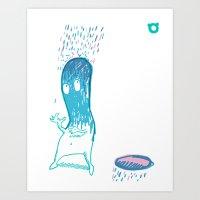002_rain Art Print