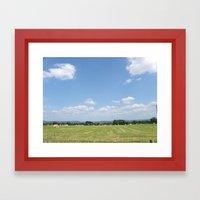 Beneath the Blue Sky Framed Art Print