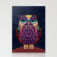owl Stationery Cards featuring OWL 2 by Ali GULEC