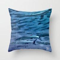 Barracuda! Throw Pillow