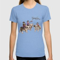 Young Guns Womens Fitted Tee Tri-Blue SMALL