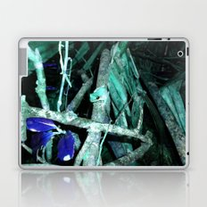 Frog in Turquoise Laptop & iPad Skin