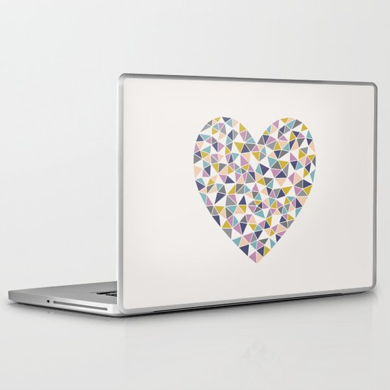 Faceted Heart Laptop & iPad Skin
