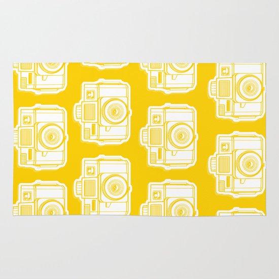 I Still Shoot Film Holga Logo - Reversed Yellow Area & Throw Rug