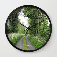 The Road To The Wood Wall Clock