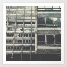 Industrial facade Art Print