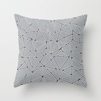 Abstraction Block Grey Throw Pillow