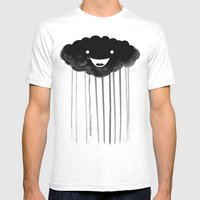 Dark Cloud Mens Fitted Tee White SMALL