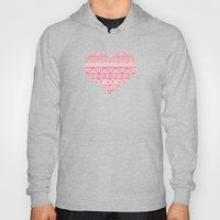Patterned Hearts Pattern Hoody