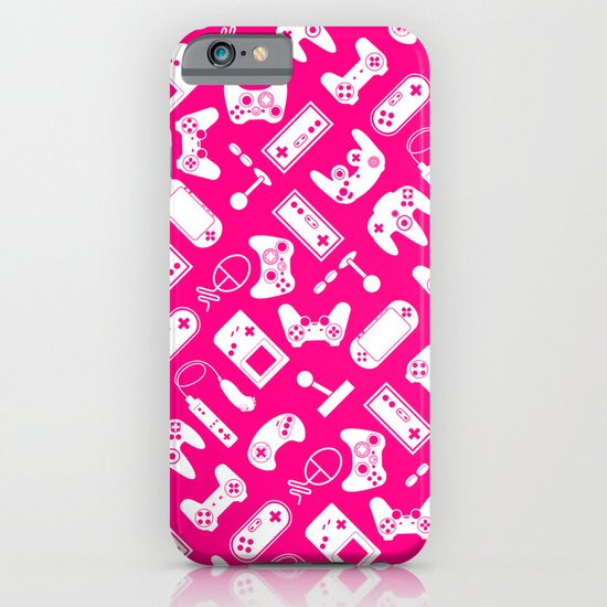 Control Your Game - White on Pink iPhone & iPod Case