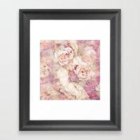FADED ROSES Framed Art Print
