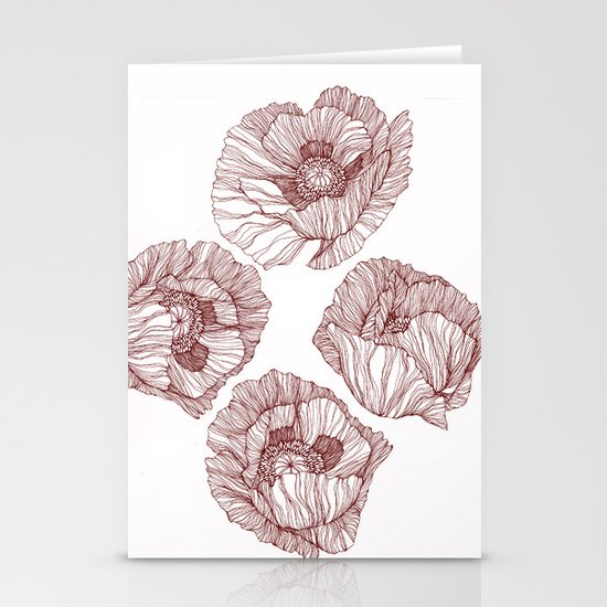 Poppies Stationery Card