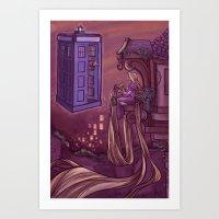 Art Print featuring You Comin' Blondie?  by Karen Hallion Illustrations
