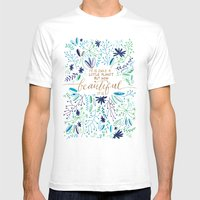 Beautiful Planet Mens Fitted Tee White SMALL