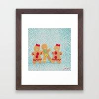 Gingerbread Peeps Framed Art Print