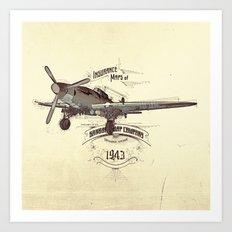 1943 caza Art Print