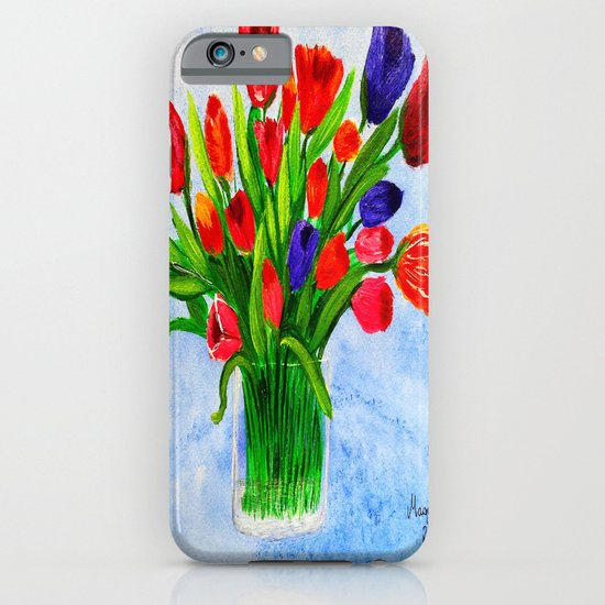 Short stem tulips iPhone & iPod Case