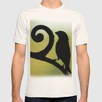 Bird on the Ironwork Mens Fitted Tee Natural SMALL