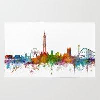 Blackpool England Skyline Rug