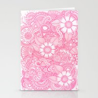 Henna Design - Pink Stationery Cards