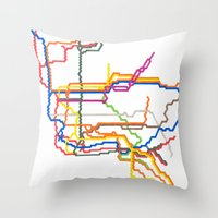 NYC Subway System (Compl… Throw Pillow