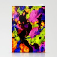 Paintskin With Orange An… Stationery Cards