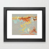 Runoff Patterns Framed Art Print
