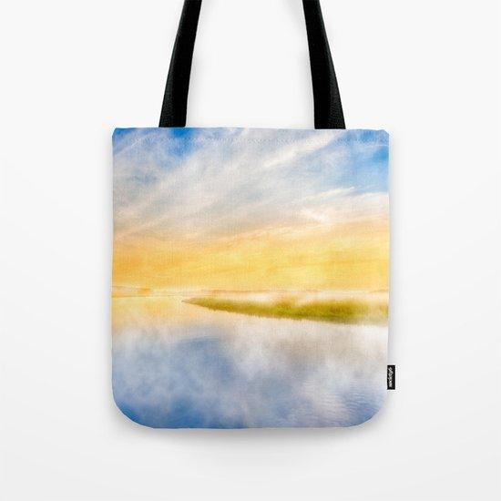 Golden Coastal Dawn Tote Bag