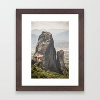 Meteora Framed Art Print