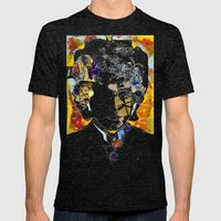 bob dylan Mens Fitted Tee Tri-Black SMALL