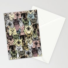 just cats retro Stationery Cards