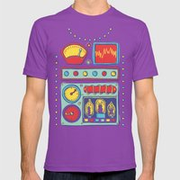 Retrobot Mens Fitted Tee Ultraviolet SMALL