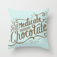 Chocolate RX Throw Pillow