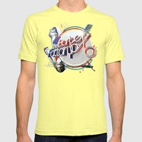 The Barber Factory Mens Fitted Tee Lemon SMALL