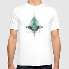 The Feathered Tribe Abstract / I Mens Fitted Tee SMALL White