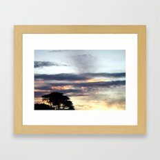 Sunset Skies Framed Art Print