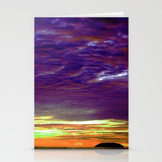 Island Sunset Stationery Card