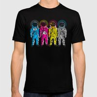 CMYK Spacemen Mens Fitted Tee Black SMALL