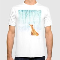 Winter Fox Mens Fitted Tee White SMALL