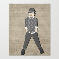 Boys Formal Wear Gray Ar… Canvas Print